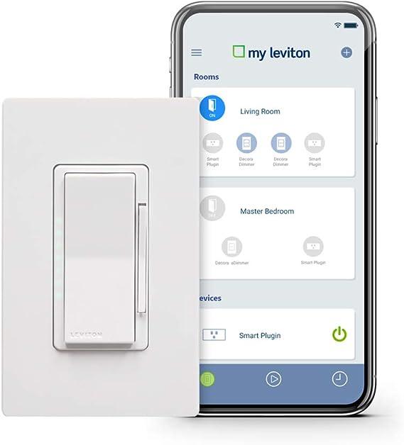 Leviton DW1KD-1BZ Decora Smart Wi-Fi 1000W Incandescent/450W LED Dimmer