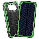 Solar Charger, Friengood 15000mAh Portable Solar Power Bank with Dual USB Ports, Solar