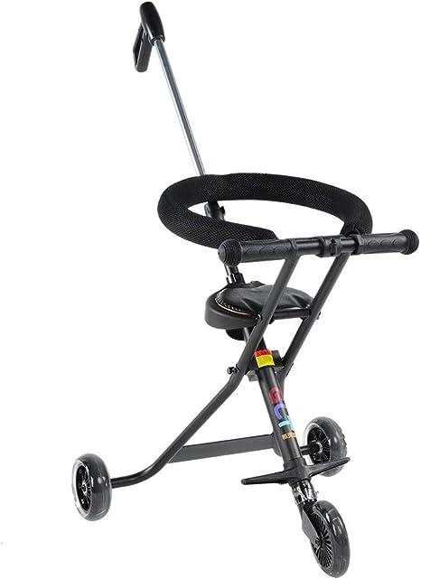 Opinión sobre lahomie Plegable Ligero Portátil Bebé Triciclo, Carro Plegable de Tres Ruedas para Bebé Bebé Paseo Artifact Ligero Marco de Aleación de Aluminio Negro