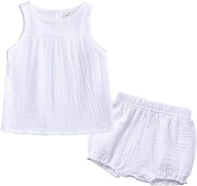 Bebé Niñas Chalecos Top y Pantalones Cortos Verano Camiseta ...