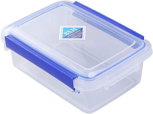 Cabilock - Caja de plástico Transparente con Doble Cierre para Guardar Alimentos y Frutas, 1 Unidad: Amazon.es: Jardín