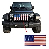 jeep wrangler blue grill inserts - IPARTS New Front American Flag Mesh Grille Grill Grid Inserts For Jeep Wrangler 2007-2017 Rubicon Sahara Sport JK JKU