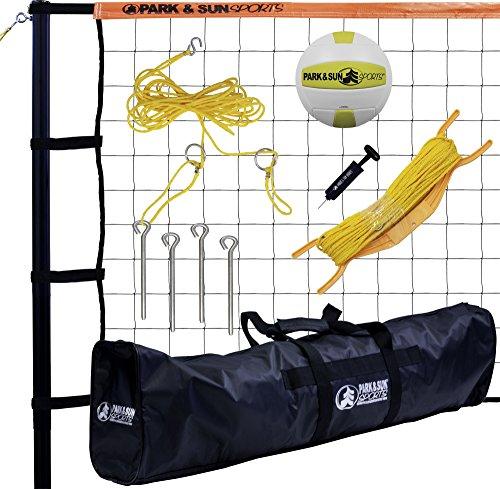 - Park & Sun Sports Tournament 179: Portable Outdoor Volleyball Net System, Orange