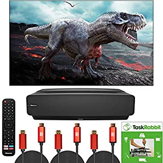 Hisense 100-Inch Class L5 Series 4K UHD Android Smart Laser TV with HDR (100L5F, 2020 Model) Home Theater Cinema Bundle with Deco Gear Pack of 3 HDMI Cables and TaskRabbit Installation Services