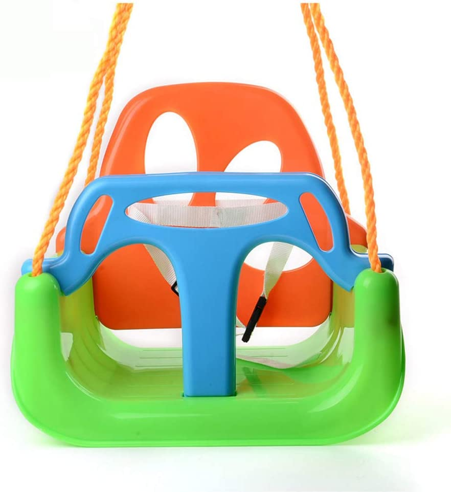 JIAWE 3 in 1 Baby Swing Toy seat, Detachable armrest, Swing seat high Back Swing Combination for Babies of Different Ages, Indoor/Outdoor