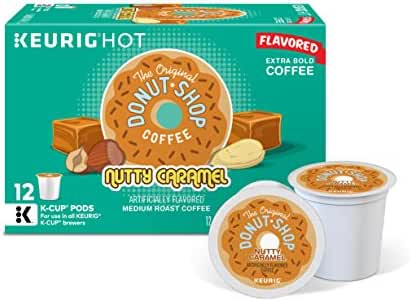 The Original Donut Shop Keurig Single-Serve K-Cup Pods, Nutty Caramel Medium Roast Coffee, 72 Count (6 Boxes of 12 Pods)