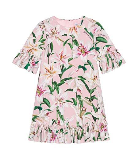Gabbana Dolce Dress Pink - Dolce e Gabbana Girls L51dr4fsrlphfkk8 Pink Viscose Dress