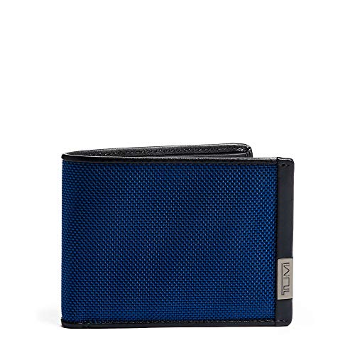 TUMI - Alpha Double Billfold Wallet with RFID ID Lock for Men - Blue/Congo Print