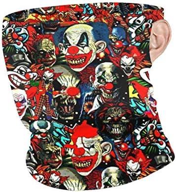 フェイスカバー Uvカット ネックガード 冷感 夏用 日焼け防止 飛沫防止 耳かけタイプ レディース メンズ Clowns The Bad Boys