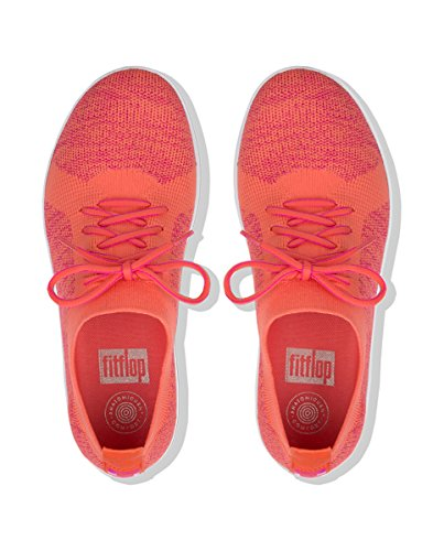 F Gymnastique FitFlop Coral Sneakers Femme TM Überknit Fuchsia Chaussures de Sporty dq0qTwO