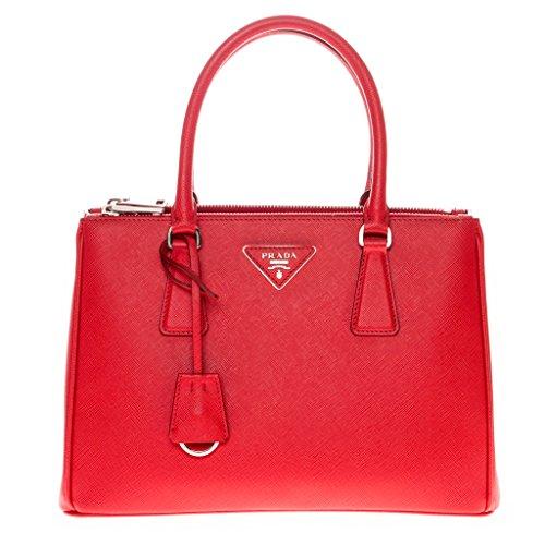 Prada Women's Saffiano Lux Small Galleria Handbag Red