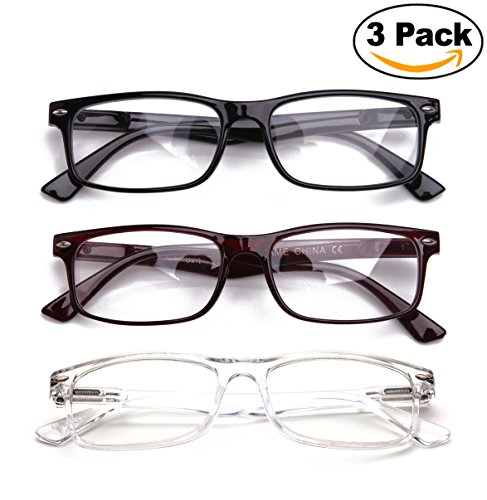 Newbee Fashion - Unisex Translucent Simple Design No Logo Clear Lens Glasses Squared Fashion - Logo Lense