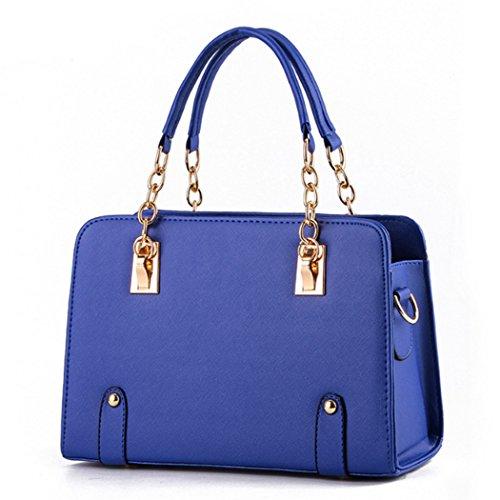 Sacchetti di spalla delle borse di cuoio dei sacchetti di Tote di modo delle signore delle nuove donne di disegno caldo di lusso blu reale