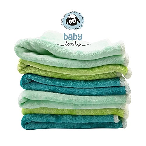 Baby Washcloths by Baby Tooshy. Soft & Organic Cloth Wipes Made of Bamboo &...