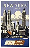 """Trav Ny Aer Lingus Framed Print 14.07""""x8.82"""" by Vintage Apple Collection"""