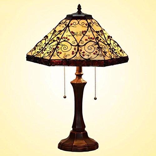 Glight Lampara de Mesa de Estilo Tiffany, lampara de Escritorio Hexagonal de 16 Pulgadas vitrinas, Luces de Mesa de Comedor de Sala