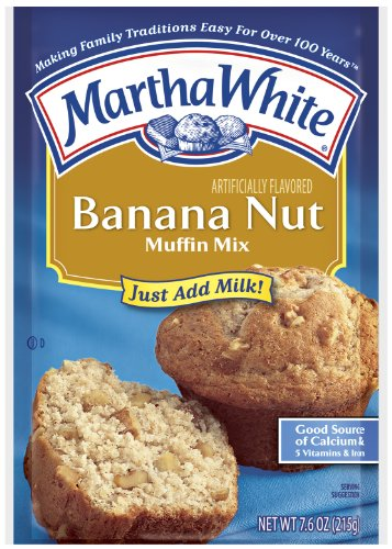 Martha White Muffin Mix, Banana Nut, 7.6-Ounce Packages (Pack of 12) ()