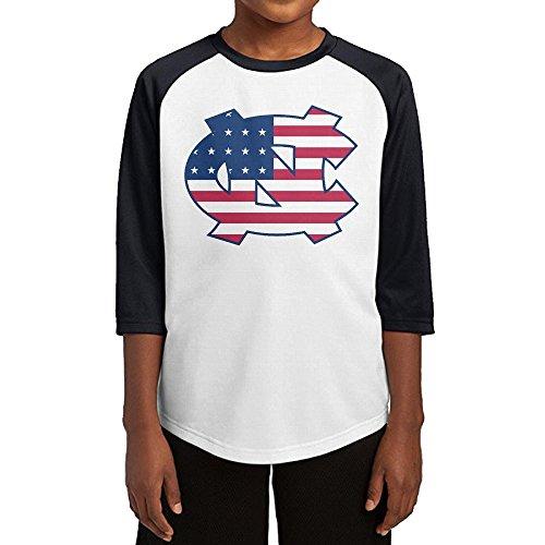 [Hotboy19 Youth Boys University Of North Carolina Raglan 3/4 Sleeve T-Shirt Black Size XL] (Roomba Costume Pattern)