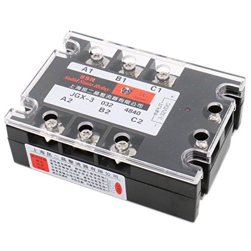 Baomain 3 Phase Solid State Relay JGX-3340A 3-32 VDC Input 480VAC 40 Amp Output -