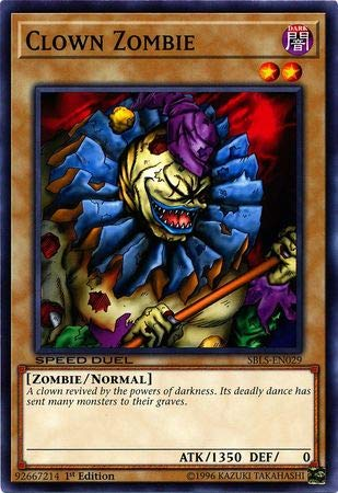 Yu-Gi-Oh! - Clown Zombie - SBLS-EN029 - Common - 1st Edition - Speed Duel Decks - Arena of Lost - Yu Oh Arena Gi