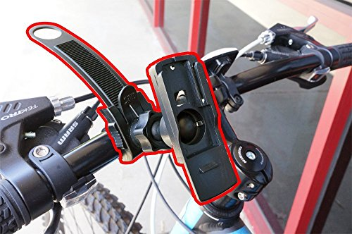 ChargerCity Strap Lock Swivel Adjust Mount for Mountain Bike Bicycle Golf Trolley Cart Fits Garmin Alpha 100 Approach G3 G5 Astro 320 430 Dakota 10 20 GPSMAP 62 64 inReach Explore + GPS Tracker by ChargerCity