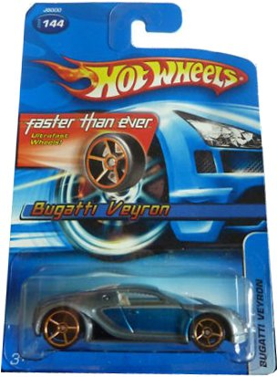 hot wheels 2006 144 bugatti veyron bue silver 1 64 scale not fte what 39 s it worth. Black Bedroom Furniture Sets. Home Design Ideas