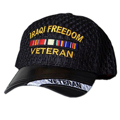 US HONOR TM Embroidered Air Flow Iraqi Freedom Veteran Bar Baseball Caps ()