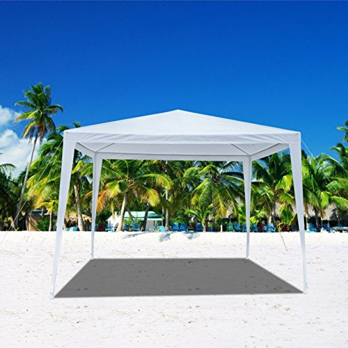 Mefeir Heavy Duty 10'x10' Outdoor Canopy Gazebo Tent with Upgraded Thick Tube, Waterproof Sun Shelter, Instant Folding, UV Protection for Party Wedding, Beach, Backyard, Patio, Pool(White) by Mefeir