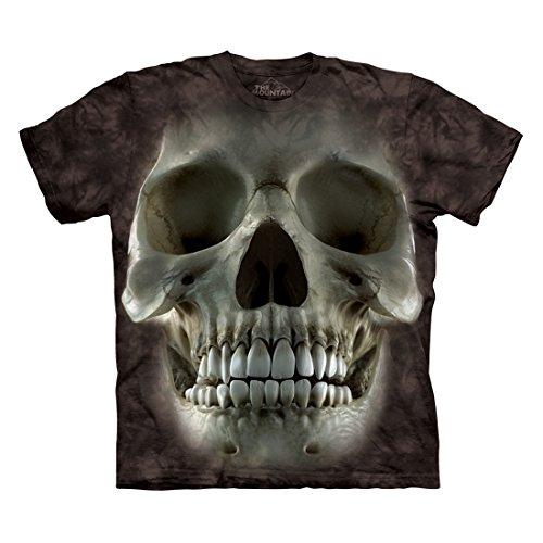 The Mountain Men's Big Face Skull T-Shirt, Black, XL (Skull T-shirt)