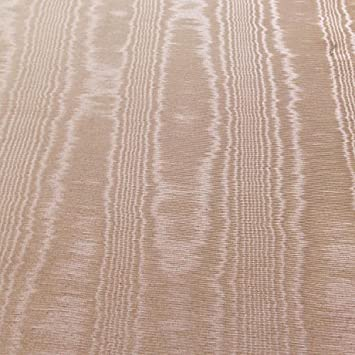 50 Wide Dark Beige Moire Taffeta Wood Grain Watermark Upholstery