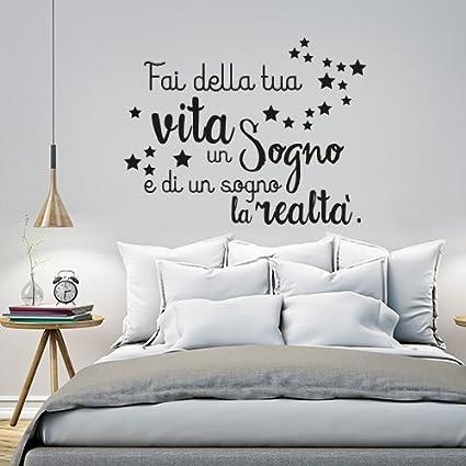 01253 Adesivo Murale Wall Art Fai Della Tua Vita Un Sogno Misure