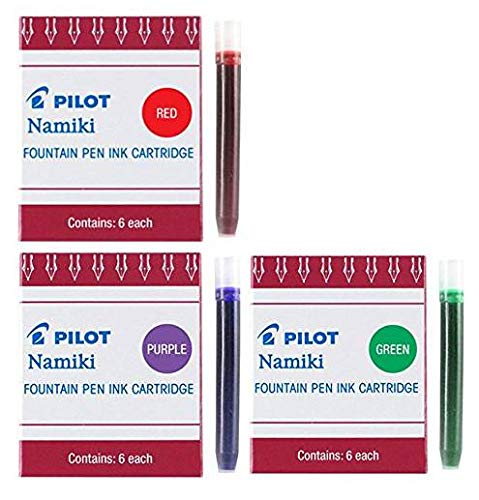 - Pilot Namiki IC50 Fountain Pen Ink Cartridge Purple Green Red(69002-69003-69004)