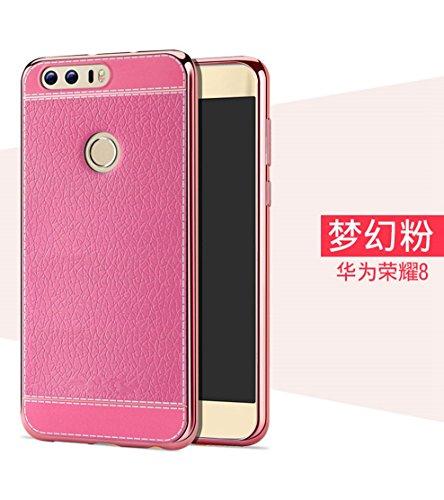 Funda Huawei Honor 8,Manyip Alta Calidad Ultra Slim Anti-Rasguño y Resistente Huellas Dactilares Totalmente Protectora Caso de Cuero Cover Case Adecuado para el Huawei Honor 8 G
