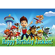 Paw Patrol Ready For Action! 1/4 Sheet Edible Frosting Photo Birthday Cake Topper. ~ Pesonalized! by Cassie's Kitchen