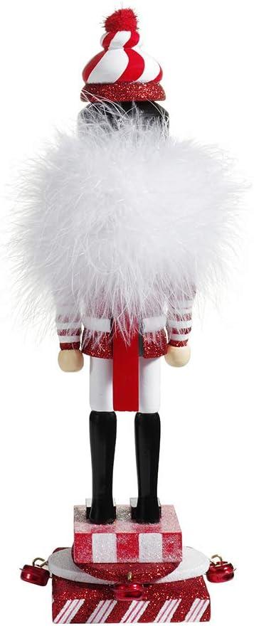 Multi Adler 12.5-Inch Hollywood Red and White Candy Hat Nutcracker Kurt Adler Kurt S