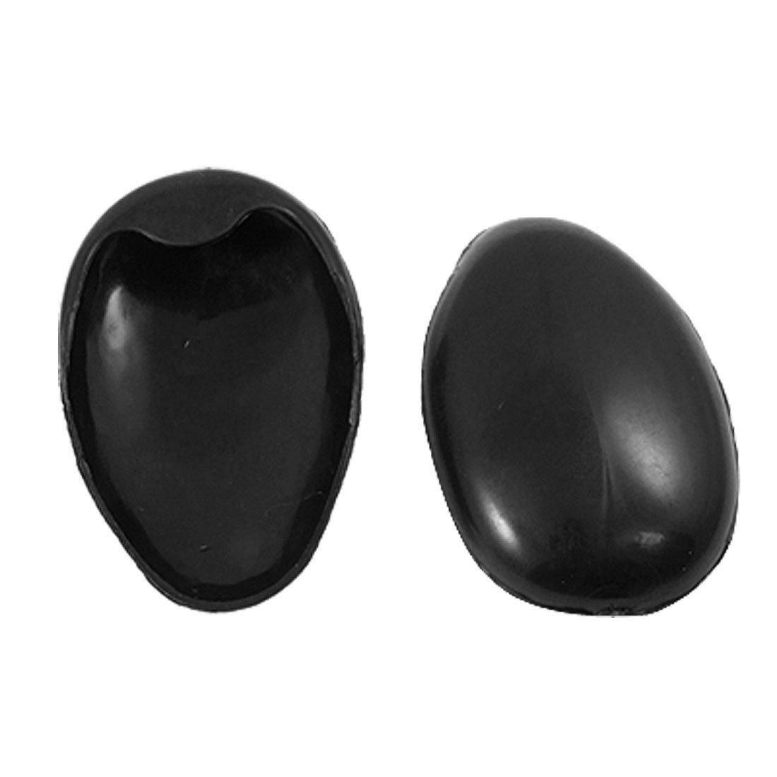 sourcingmap® Coppia copri orecchi di pastica nera barbiere per non sprcare con tinta per capelli a11120600ux0046