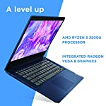 Lenovo IdeaPad 3 14″ Laptop, 14.0″ FHD 1920 x 1080 Display, AMD Ryzen 5 3500U Processor, 8GB DDR4 RAM, 256GB SSD, AMD Radeon Vega 8 Graphics, Narrow Bezel, Windows 10, 81W0003QUS, Abyss Blue
