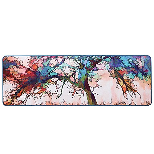 Cheap Wolala Home Abstract Graffiti Oil Painting Tree Kitchen Rug and Carpet Non-slip Washable rug runners for Hallways Bedside 2 Feet by 6 Feet Anti Skid Entered Mat