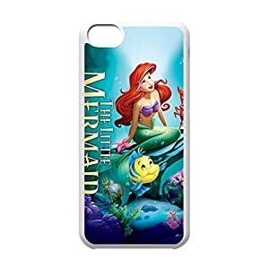 Diy iPhone 6 plus Classical Style Case with The Little Mermaid Lightweight Plastic Protective Back Cover for iPhone 6 plus -White042806