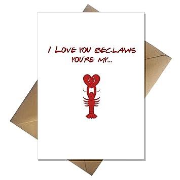 Funny Birthday CardYou are my lobsterHumourLove