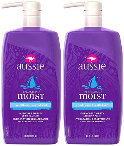 (Aussie Mega Moist Conditioner 29.2 oz (Pack of 2))