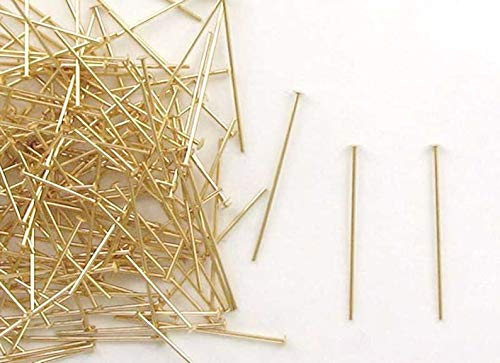 14k Gold Filled 1''x22 Gauge Domed Head Pins, Choice of Lot Size Price