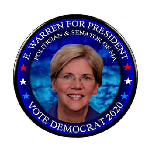 Elizabeth Real Photo - Elizabeth Warren 2020 President Photo Pin, Select Size 2.25