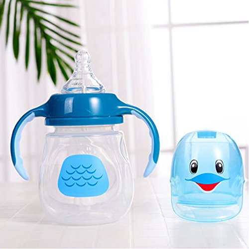 BPA Free 280ML Wide Neck Baby/' Feeding Bottle With Straw /& Handle Infant Bottles
