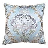 European-style pillow Feather silk cushions Sofa bed's Silk embroidery hug pillowcase-A 55x55cm(22x22inch)VersionB