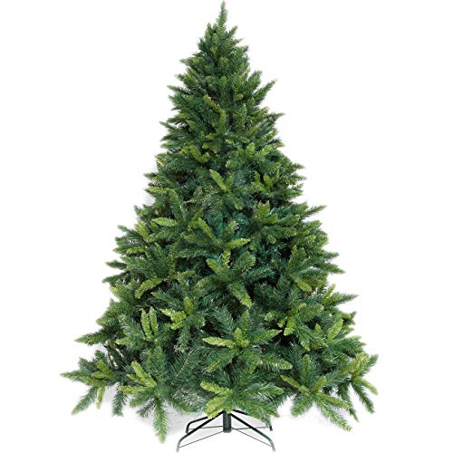Potalay Artificial Christmas Tree Unlit 4,5,6,7.5 Feet Premium Hinged Spruce Full Tree(6 FT) (Trees Artificial Thin Christmas Tall)