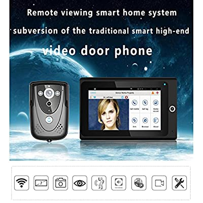 "MOUNTAINONE Popular 7"" WiFi Wireless Video Door Phone intercom Doorbell IP Camera PIR IR Night Vision Home alarm system"