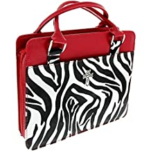 Zebra Print Purse-Style Bible / Book Cover w/Cross (Large)