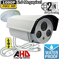 Ventech Hybrid HD 2.0MP 1080P AHD / 960H Bullet Security Camera Outdoor 4mm Lens 2 power IR LEDs ICR Auto Day Night Video Surveillance (Default 1080P Mode) CAMAHD