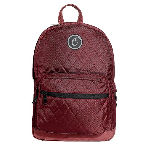 Cookies SF Berner Men's V2 1680 Quilted Nylon Smell Proof Backpack Bag W/ Pouch Red by Cookies SF